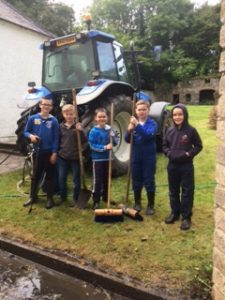 The next generation of workers helping out at the Rectory Tidy Up.