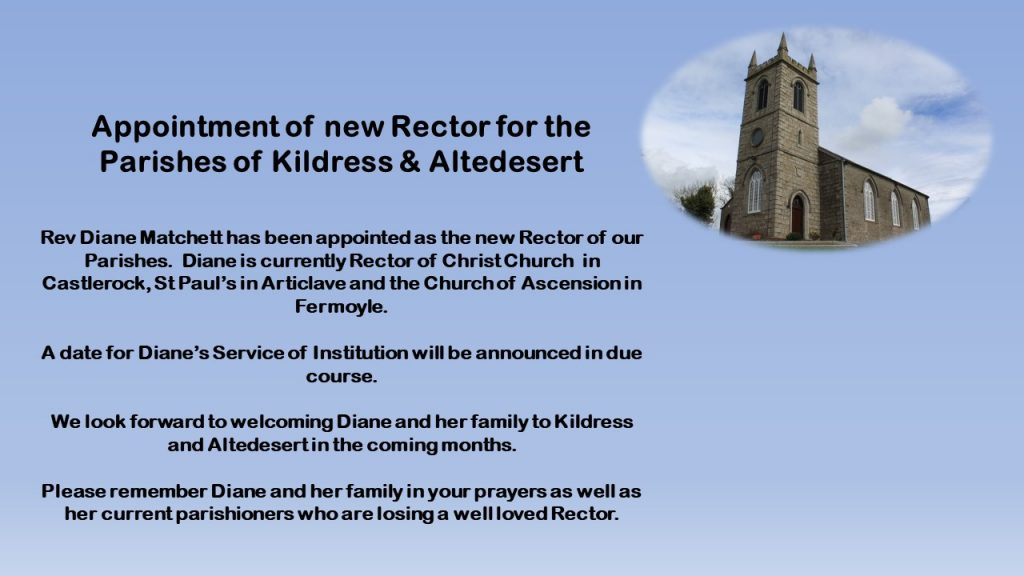 New Rector Appointment announcement